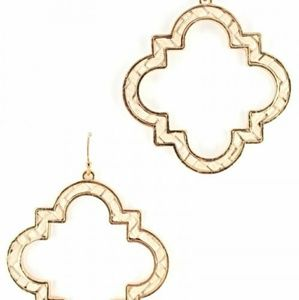 NATURAL CLOVER FASHION EARRINGS